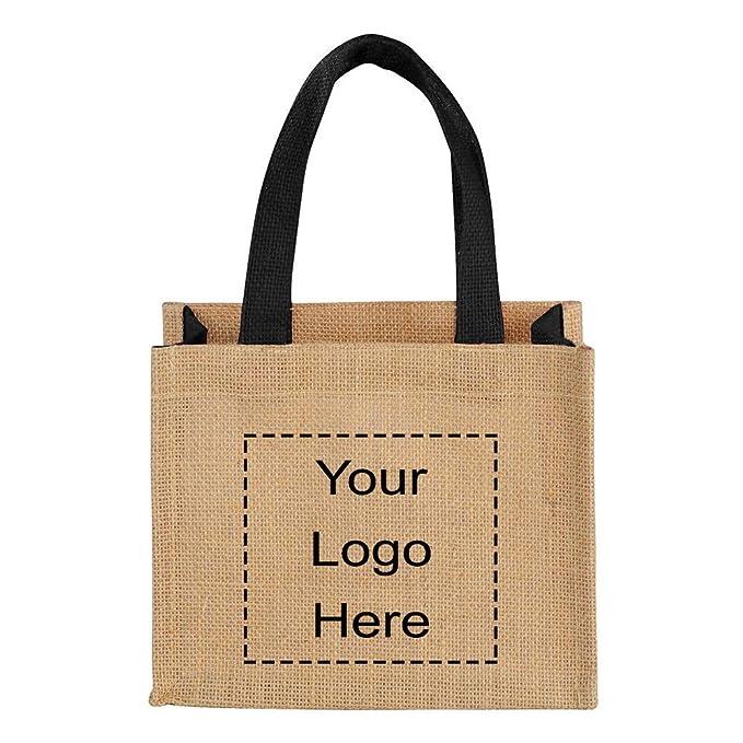 Amazon.com: Mini bolsa de regalo de yute de Promo Direct ...