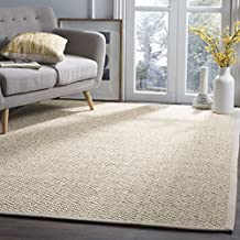Safavieh Natural Fiber Collection NF525C Marble Sisal Area Rug, 5 feet by 8 feet (5' x 8')