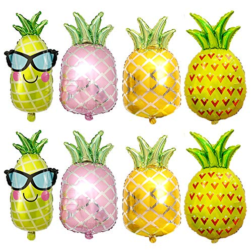 Pineapple Balloons Foil Helium Party Balloons For Wedding Birthday Baby Shower Holiday Halloween Christmas Gold Glitter Party Decorations Supplies Women Girls Kids Shiny Golden Balloons 8 Pack Mixed]()