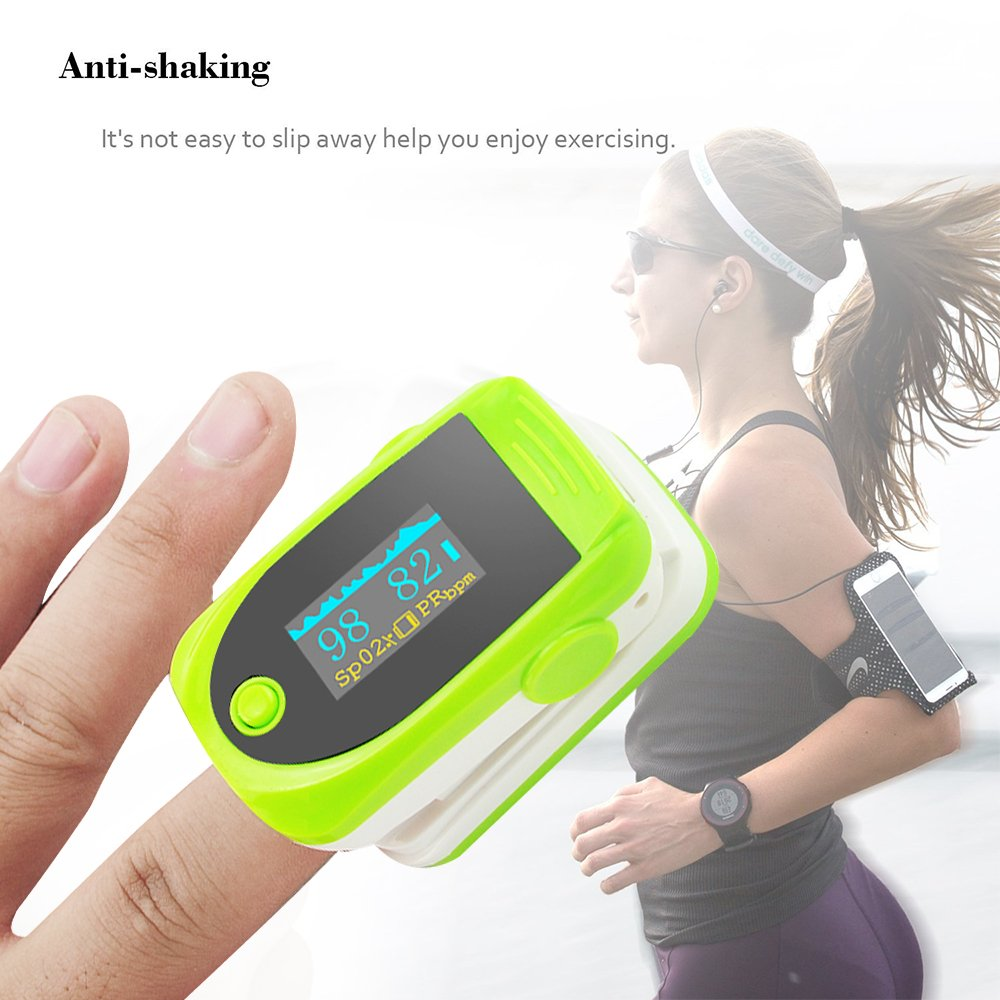 Vinmax Fingertip Pulse Oximeter Oximetry Blood Oxygen Saturation Monitor with Audio Alarm & Pulse Sound | Spo2 Monitor Finger Puls Oximeter,Green