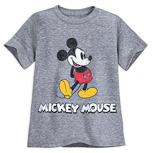 (Disney Mickey Mouse Classic T-Shirt Boys - Gray Size XL (14) Multi)