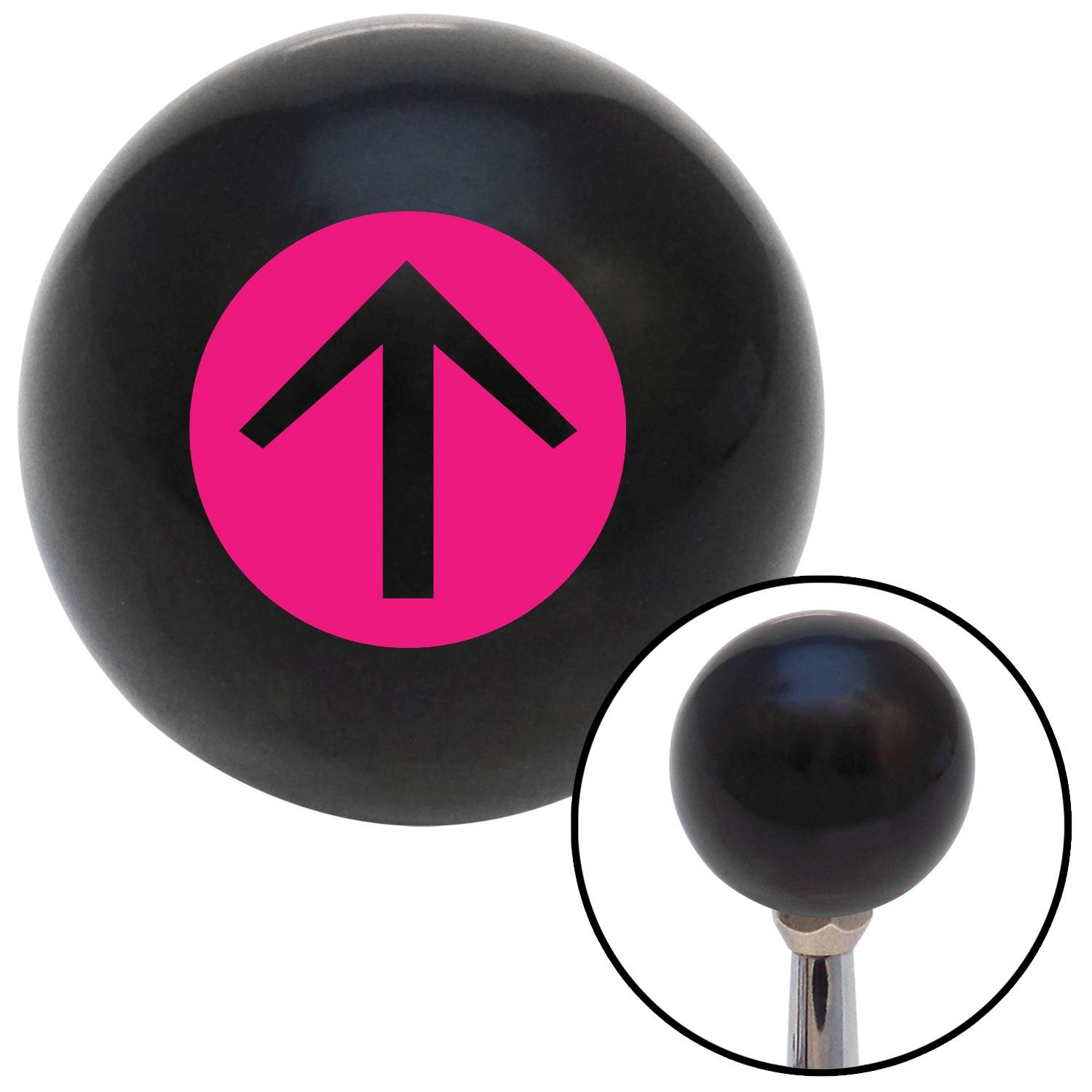 Pink Circle Directional Arrow Up American Shifter 103593 Black Shift Knob with M16 x 1.5 Insert