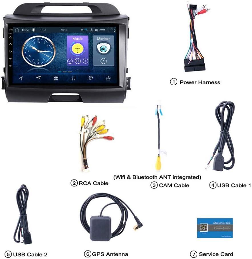 Navegaci/ón GPS para Veh/ículos HHttM Android 8.1 De 9 Pulgadas para KIA Sportage R 2010-2016 Sistema De Navegaci/ón GPS Multimedia para Veh/ículos Automotrices Compatible con RDS