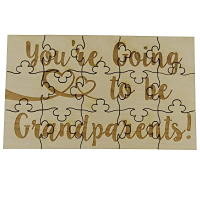 You're Going to Be Grandparents - 15 Piece Basswood Jigsaw Puzzle, Surprise Pregnancy Announcement: Toys & Games