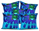 5Pcs-100Pcs Amazing India Patchwork Sky Blue Applique Cushion Covers Wholesale Lot