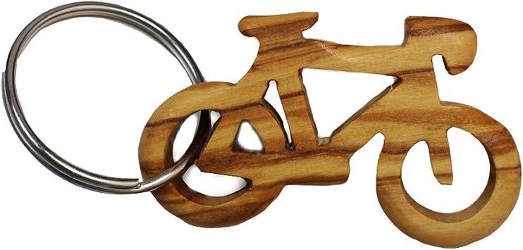 Llavero de madera de olivo, para bicicleta, deporte, colgante de madera, llavero hecho a mano, hecho a mano...: Amazon.es: Equipaje