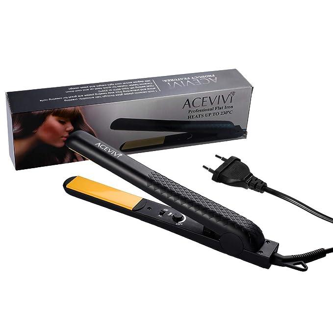 ACEVIVI Cepillo alisador Plancha eléctrico profesional enderezadora con pantalla LCD: Amazon.es: Salud y cuidado personal