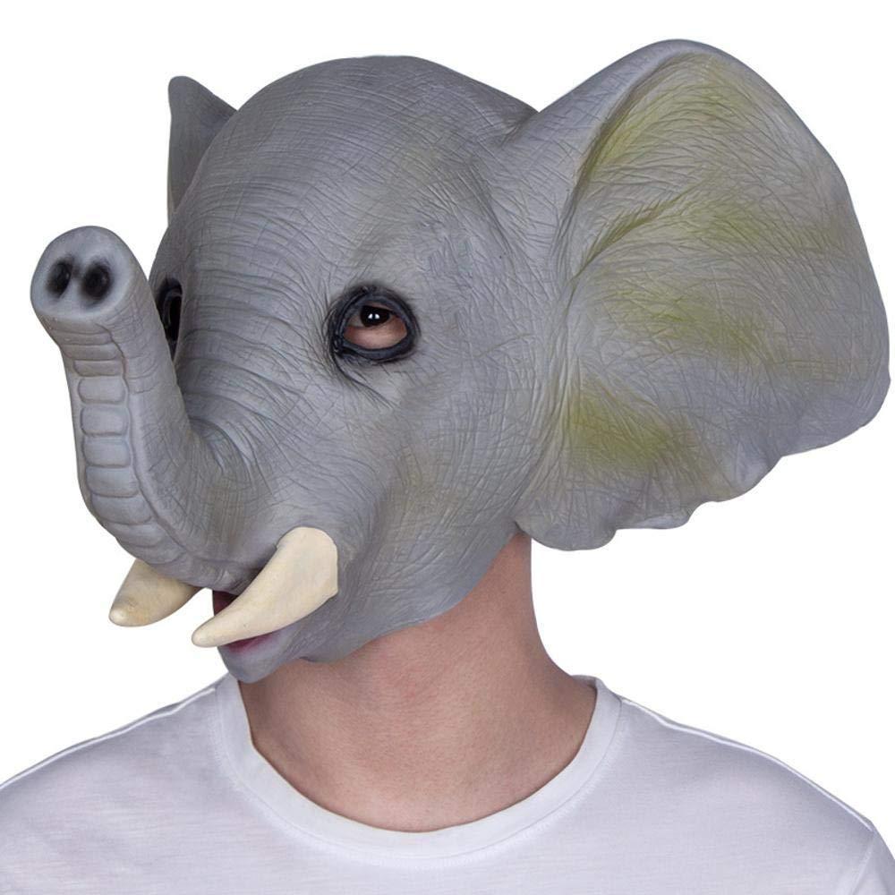 LXIANGP Máscara de Animal Lindo de Halloween cos Elefante máscara de Capucha del Partido de la Mascarada máscara