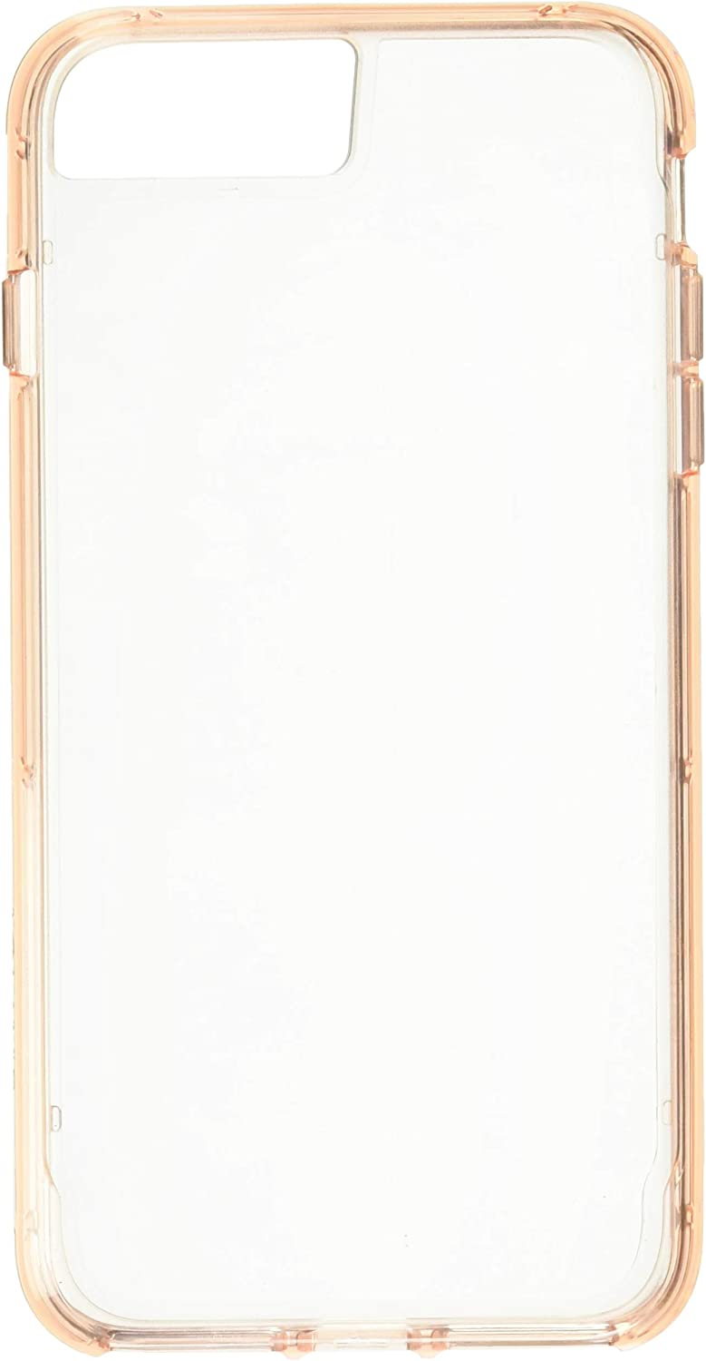 Griffin Survivor Clear Case for iPhone 8 Plus with Shock-Absorbing Bumper and Non-Yellowing Back Shell - Rose Gold