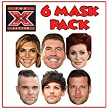 FOXYPRINTING Face Masks X Factor Judges 2018 Mask Pack - Party Mask Celebrity Mask TV Show Music Stars
