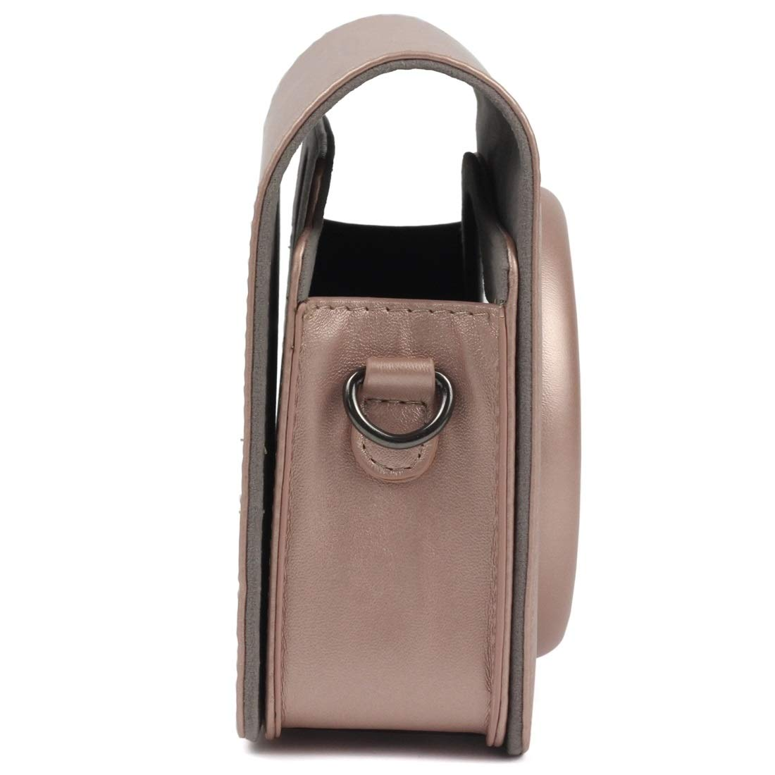 with Adjustable Shoulder Strap Durable Color : Light Brown Pearly Lustre PU Leather Case Bag for FUJIFILM Instax Square SQ6 Camera