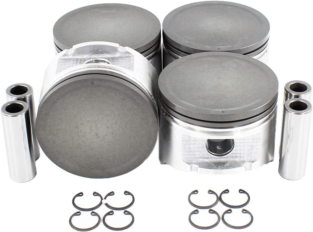 Pistons and Rings Fits 89-92 Nissan 240SX Axxess Stanza 2.4L SOHC 12v KA24E