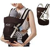 ELENKER™ Adjustable 4 Positions Carrier 3D Backpack Pouch Bag Wrap Soft Structured Ergonomic Sling Front Back Newborn Baby Infant Blue