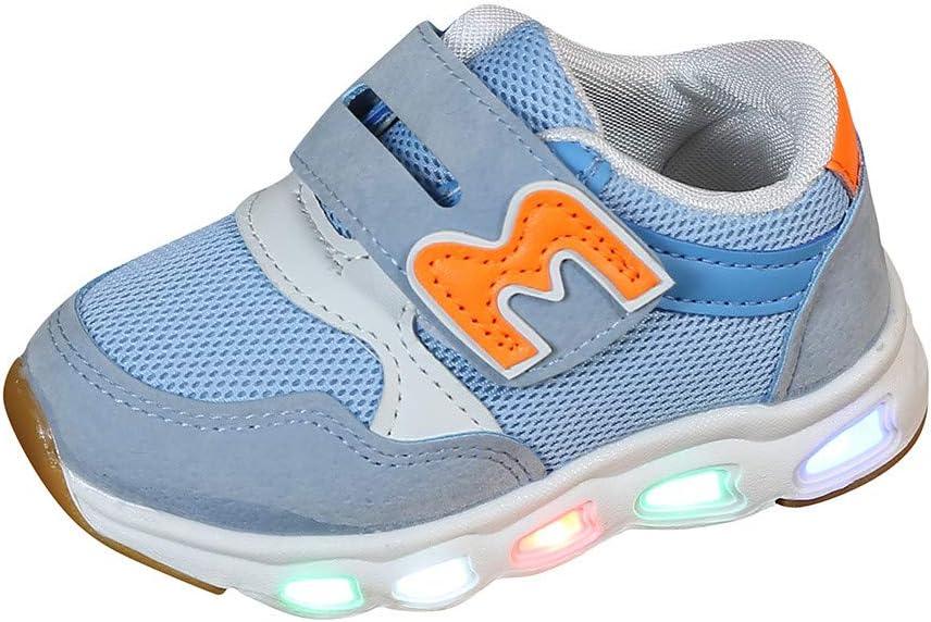 Unisex Enfants Gar/çon Fille LED Lumineuse Chaussures Securit/é Mode Dessus 7 Couleurs Clignotants USB Rechargeable Mutilsport Shoes Sneaker