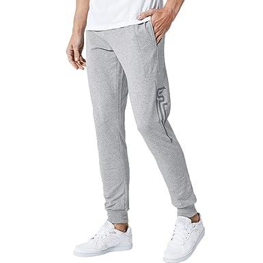 Rawdah_Pantalones Hombre Pantalones de chándal Casual de algodón ...