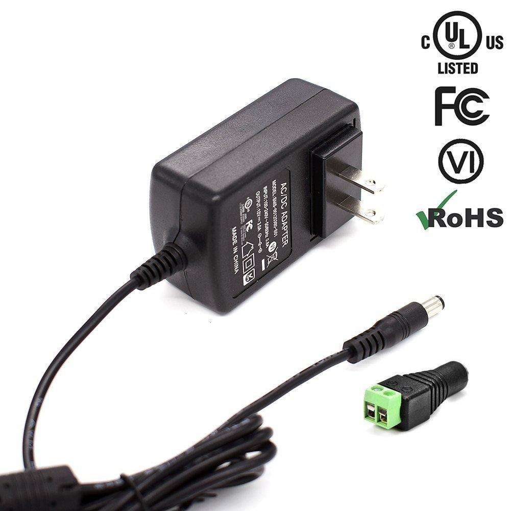 iCreatin [UL FCC listed]12V DC 3A Wall Power Supply Adapter with 5.5 x 2.1mm plug 3A(3000MA)