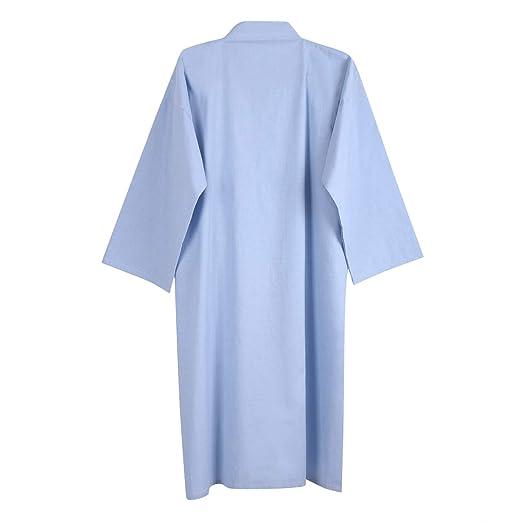Kimono Morgenmantel Herren M/änner Yukata V-Ausschnitt Langarm Schlafmantel Hautfreundlich Bademantel Japanischer Saunamantel Bequem Nachtw/äsche Baumwolle Sleepwear f/ür f/ür Bad Schlafen