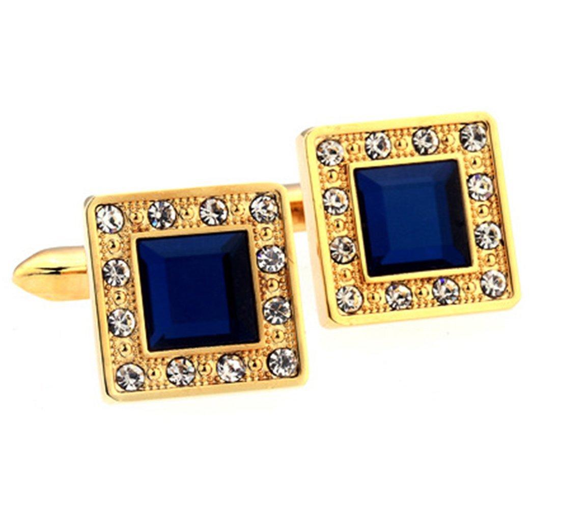 Gudeke Cristal Boutons de manchette Bleu Golden Square