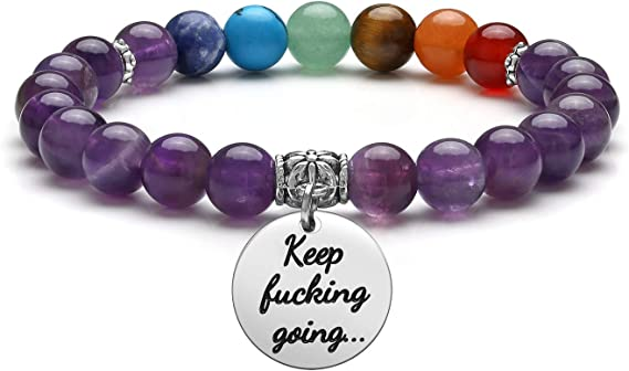 Clear Crystal Quartz Bracelet w Reiki Perfect for Chakras Yoga Jewelry Gift Healing Meditation