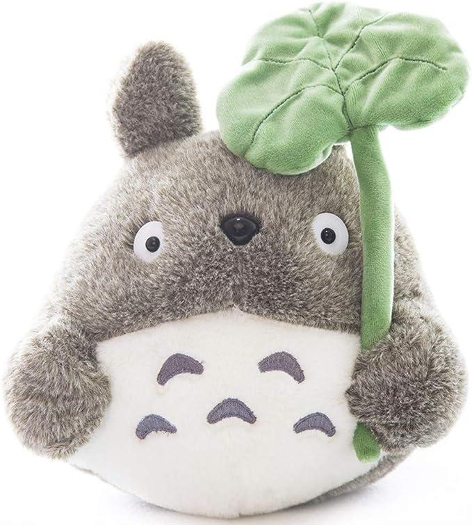 45cm 17 71 Inch Totoro Plush Doll Plush Animal Toy Throw Pillow Decorative Holiday Birthday Kid Girlfriend Gift Lotus Leaf 45cm 17 71 Inch Toys Games Amazon Com