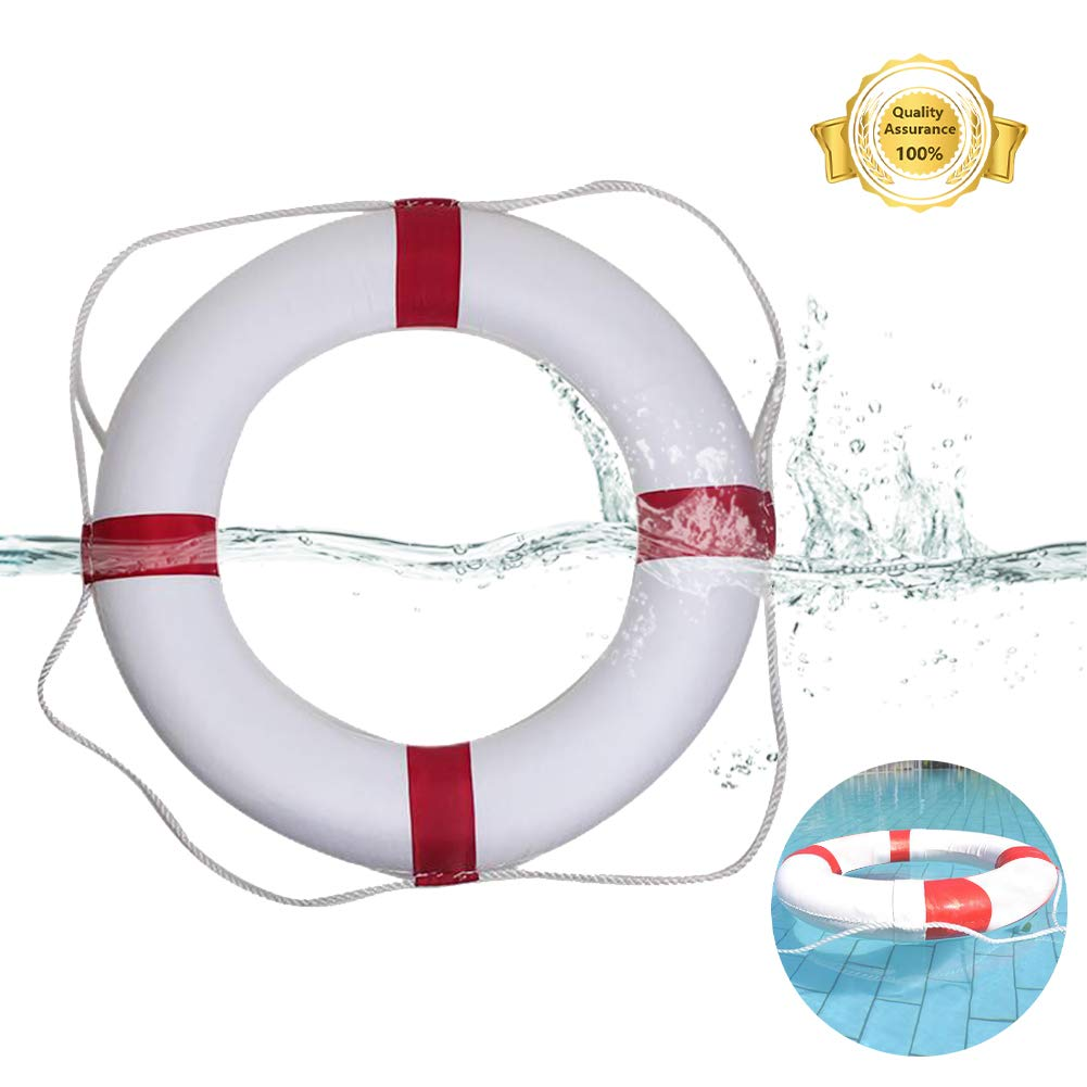 Lshylock Swim Foam Ring,Buoy Swimming Pool Safety Life Preserver with Perimeter Parent-Child Swim Ring Adult red by Lshylock
