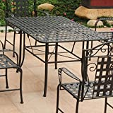 Mandalay Iron Outdoor 60'' Dining Table