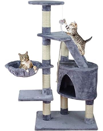 MC Star Árbol para Gato con Rascador de 120cm,Arañazo Juguete de Gatos de Sisal