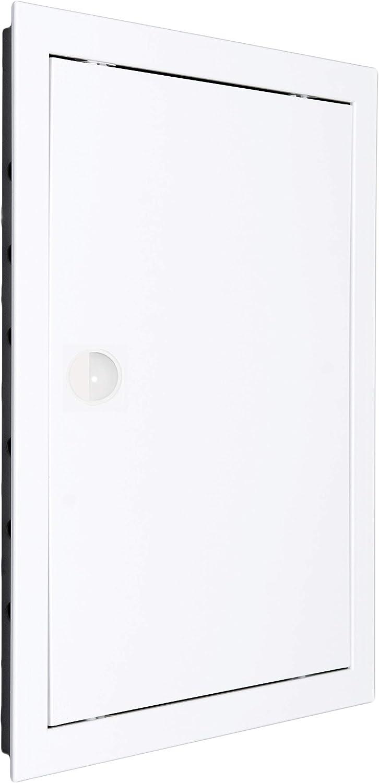 Puerta de inspección, compuerta de revisión, plástico ABS de alta calidad en color blanco -