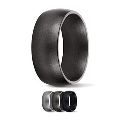9mm Size 10-18 Men or Women SafeRingz Titan Silicone Wedding Ring Made in The USA