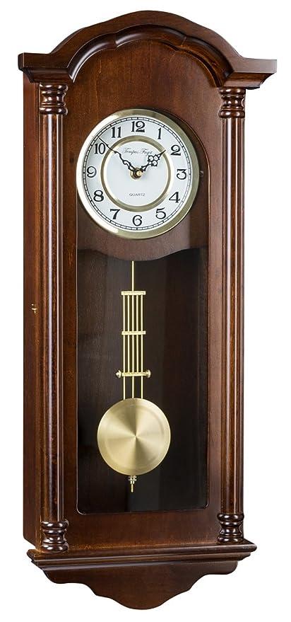 Orologio da parete pendolo Tempus Fugit meccanismo al quarzo QC09W01 ...