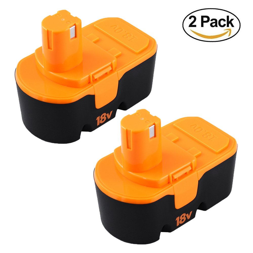 Fhybat for Ryobi 18v Battery Replacement ONE+ P100 P104 P105 P110 130224007 High Capacity Cordless Power Tools 18 Volt Batteries 2 Packs