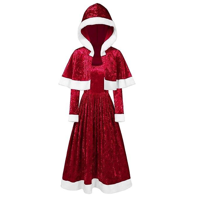 Conjunto de Vestido con Capa, Disfraces de Papá Noel para ...
