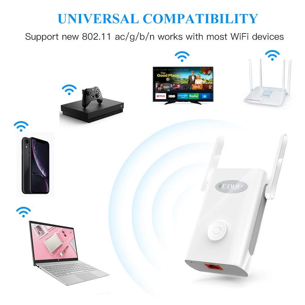EDUP AC1200 WiFi Range Extender 2.4/5.8GHz Dual Band Wireless Booster