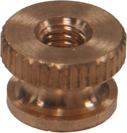 Knurled Thumb Nuts Brass Circular Knurl Nuts #4-40 QTY 25