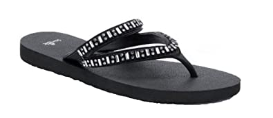 Selene Jeweled Flip-Flops