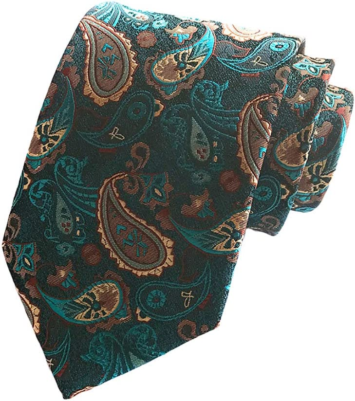 Fansi Cravate pour Homme Design Classique en Polyester Doux Accessoires de v/êtements Creative Couleur Motif imprim/é pour Cadeau 146 * 8cm Polyester Orange