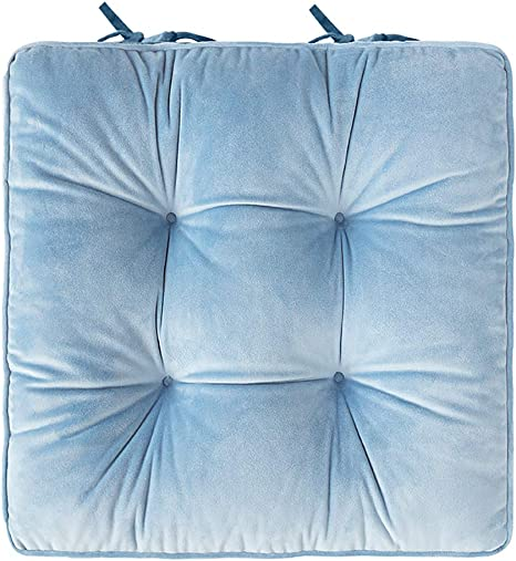 Amazon.com: LUMBAR Padded Cushion Chair Seat Pads With Ties, Corduroy Square Cushion Dining & Garden Chair Booster Cushion 100% Cotton Thick Cushion For Dormitory Home Office-c 42x42cm(17x17inch): Home & Kitchen