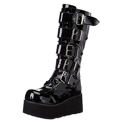 2564d168041 Amazon.com | Summitfashions 3 1/4 Inch Mens Platform Knee Boots 5 ...