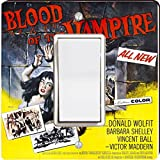 Rikki Knight 3704 Single Rocker Vintage Movie Posters Art Blood of Vampire 4 Design Light Switch Plate