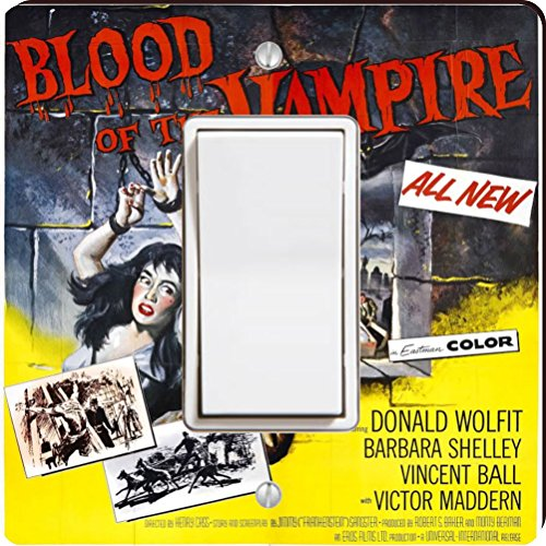 Rikki Knight 3704 Single Rocker Vintage Movie Posters Art Blood of Vampire 4 Design Light Switch Plate by Rikki Knight