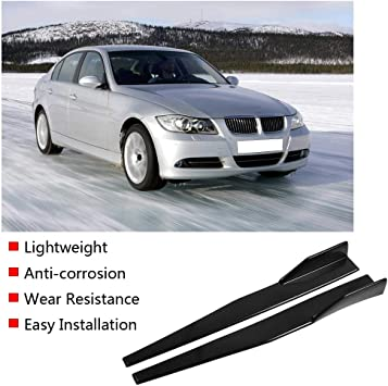 ACAMPTAR Car universal small side skirts heighten thickened reinforced blade side skirt flank