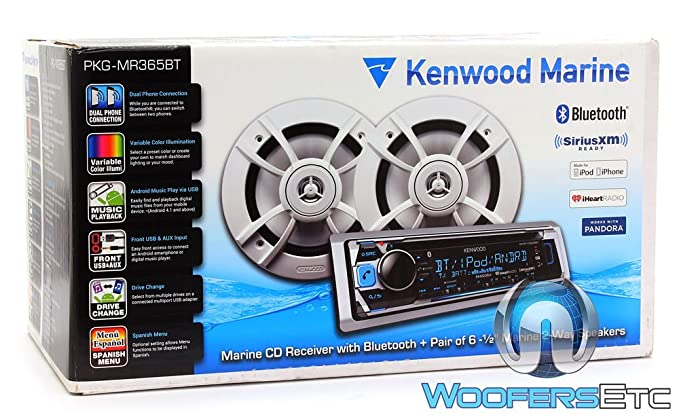 Kenwood PKG-MR362BT Marine CD Receiver with Bluetooth and 6 5