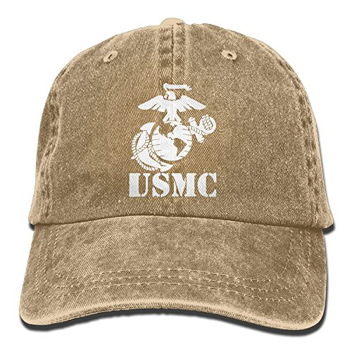 Eagle Globe Anchor USMC Marine Corps Men's Baseball Hat Vintage Denim Trucker Cap
