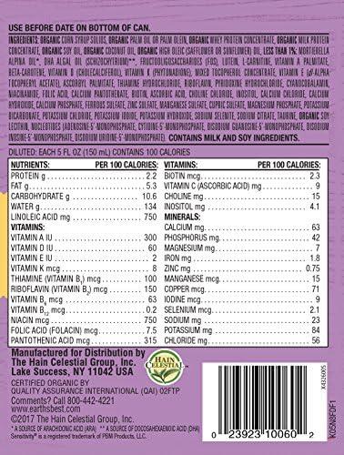 61dQM2LPu7L. AC - Earth's Best Organic Low Lactose Sensitivity Infant Formula With Iron, Omega-3 DHA & Omega-6 ARA, 23.2 Ounce