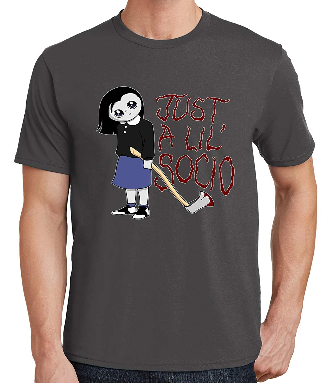 Tenacitee Mens Just a Lil Socio T-Shirt