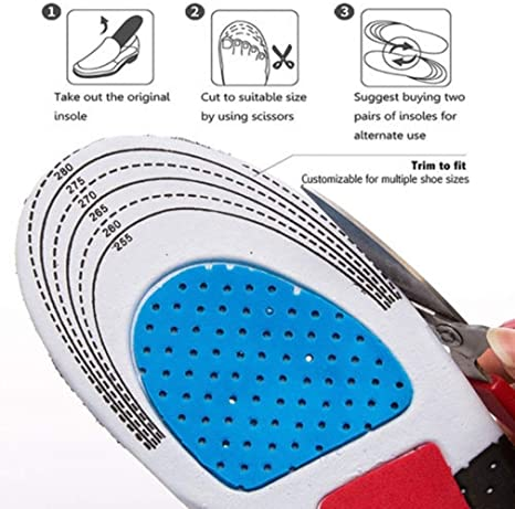 Sport Ultra-Comfortable Arched Insoles for Cushioning, Flat Feet Foot Arch Support Orthotics High Arch Orthotic Shoe Inserts Insoles, Plantar ...