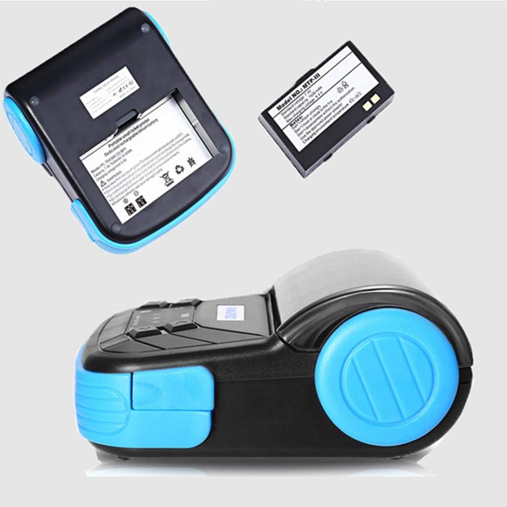 Comaie Mini-imprimante Thermique sans Fil Ticket de Caisse Direct POS 80mm Portable Compatible avec pour Windows Android iOS