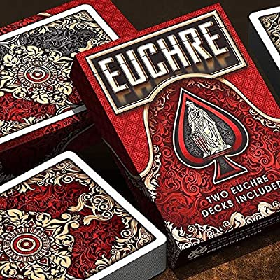 Euchre V2 Playing Cards for Euchre Card Game & Clear Protective Playing Cards Case: Sports & Outdoors