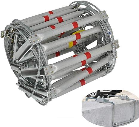 SSCYHT Escalera de Incendios para Ventanas de casa Escalera de aleación de Aluminio Resistente a la Intemperie con Gancho Fuerte, Capacidad de Peso de hasta 500 kg: Amazon.es: Deportes y aire libre