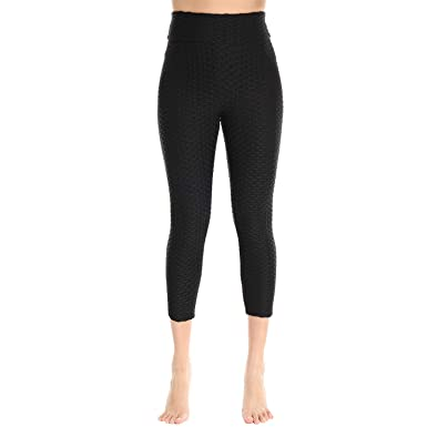 7f3636b060bf5 CFR Active Leggins Womens Ruched Butt Lifting Leggings High Waisted Grain  Sport Tummy Control Gym Yoga Pants at Amazon Women s Clothing store
